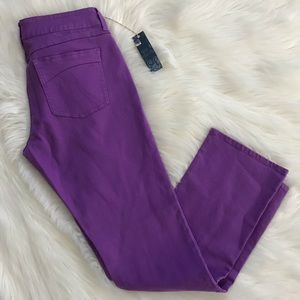 dELiA*s NWT Juniors Purple Morgan Jeans; SZ 13/14R